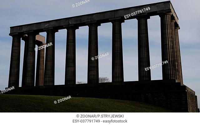 National Monument in Calton Hill, Edinburgh, Scotland