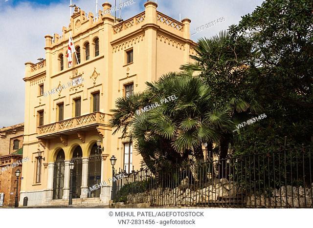 Exterior of Ajuntament de Sitges - Casa de la Vila - Town Hall, Sitges, Catalonia, Spain, Europe