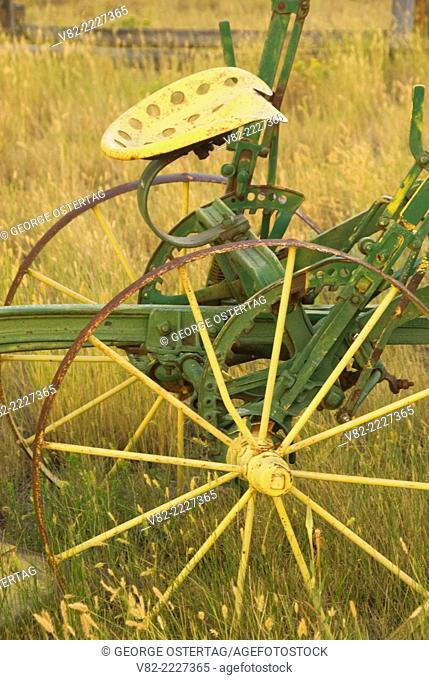 Sulky plow, Grant-Kohrs Ranch National Historic Site, Montana