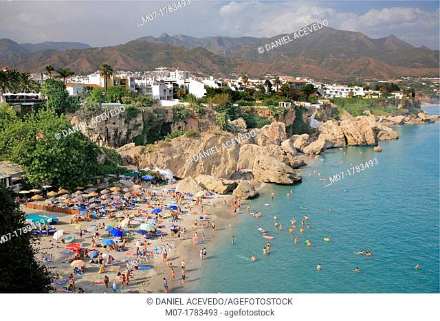Calahonda beach, Nerja, Costa del Sol, Andalucia, Spain