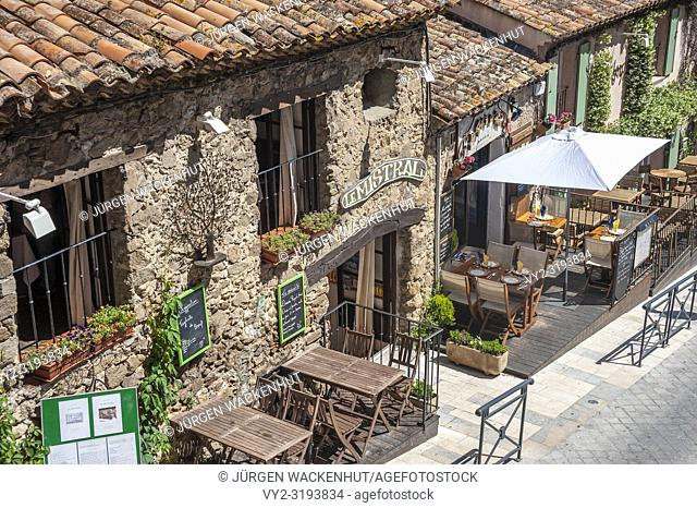 Restaurant in the old town, Ramatuelle, Var, Provence-Alpes-Cote d`Azur, France, Europe