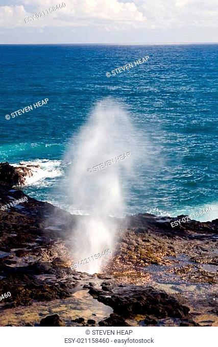 Spouting Horn off Poipu in Kauai