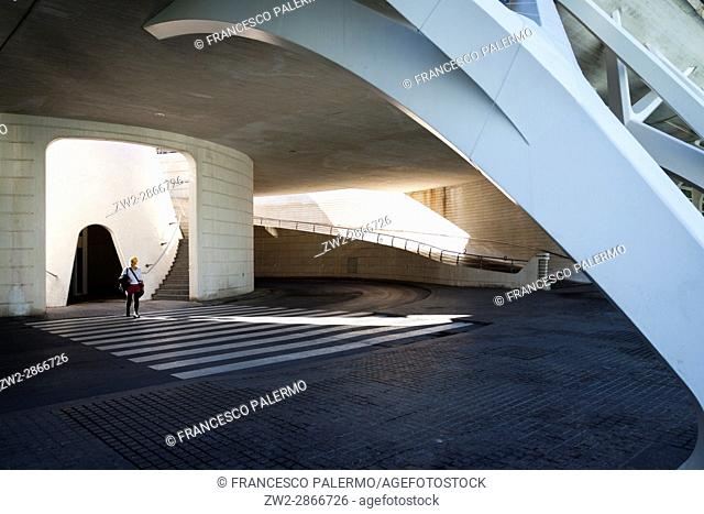 City of Arts and Sciences architectures. Valencia, Spain