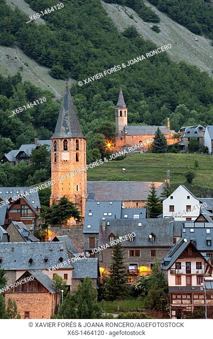 Salardú and Unha villages in Val d'Aran, Lleida, Spain