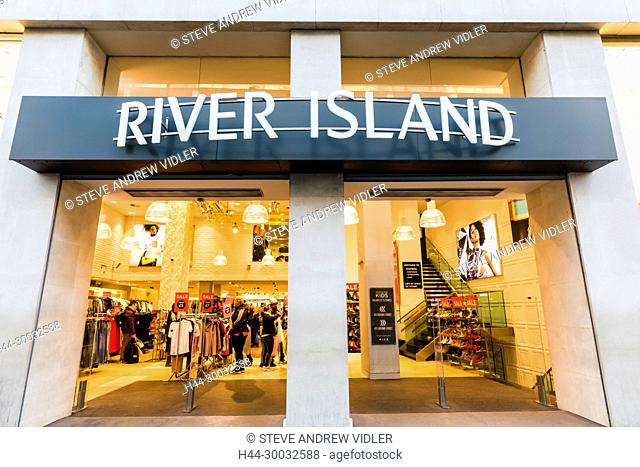 England, London, Oxford Circus, River Island Store Entrance