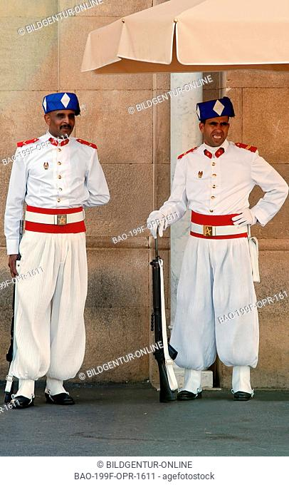 Image of the Royal Guard at the Kings Palace in Rabat