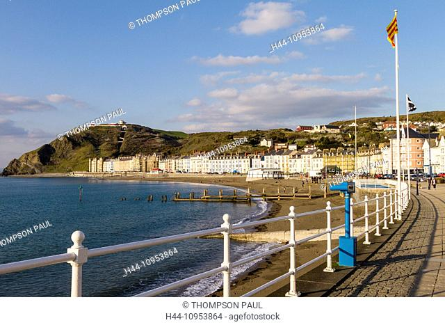 Aberystwyth beach and Marine Terrace
