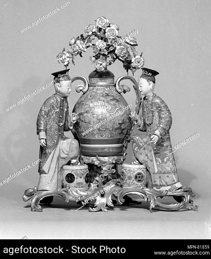 Famille rose figures. Date: 18th century; Culture: Chinese/Japanese/European with French mounts; Medium: Hard-paste porcelain