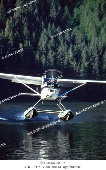 Cessna flying, Iceland, Stock Photo, Picture And Rights Managed