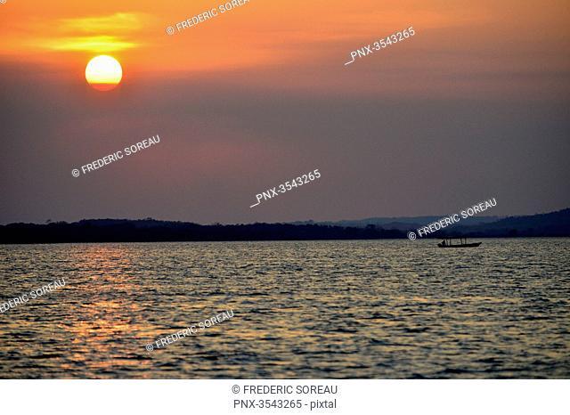Sunset in Livingston, Rio Dulce, Guatemala, Central America