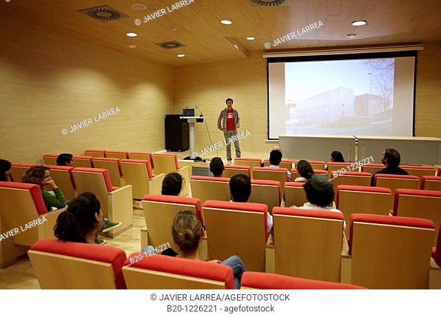 Auditorium, Materials Physics Center is a joint center of the Spanish Scientific Research Council CSIC and the University of the Basque Country UPV/EHU