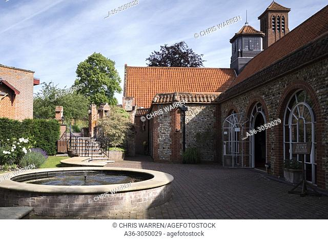 The Shrine of Our Lady's interior courtyard Little Walsingham Norfolk England