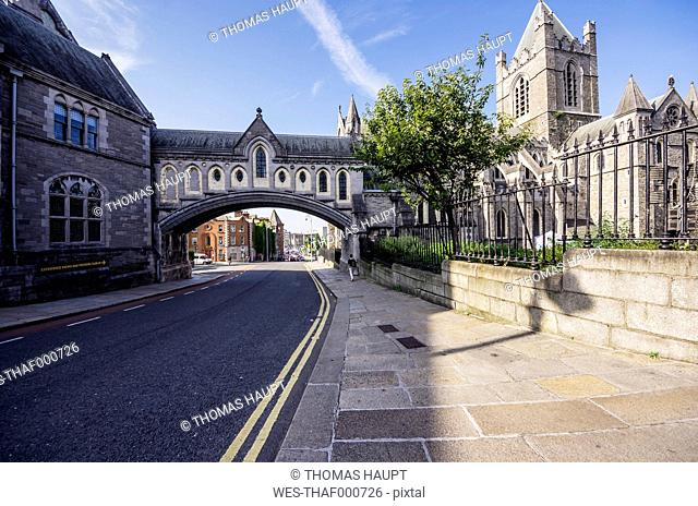 Ireland, County Dublin, Dublin, Dublinia, Wood Quay, Dublinia Museum and Christ Church Cathedral right
