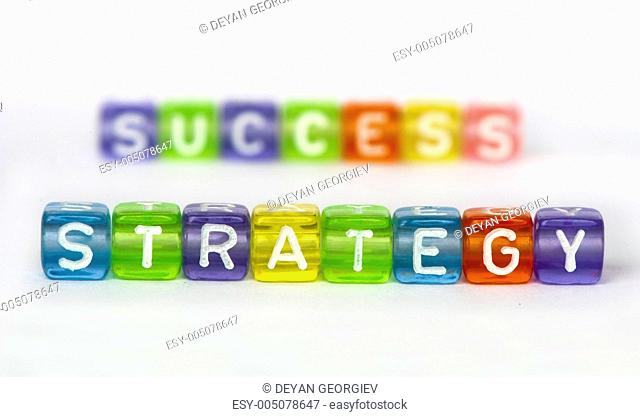 Text Strategy and success on colorful cubes