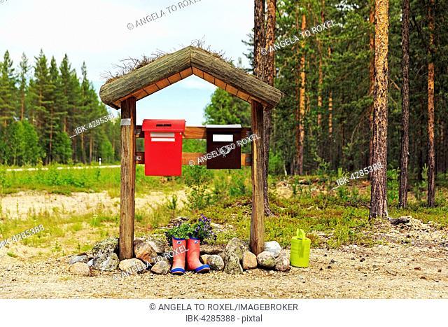 Letterboxes, Lapland, Finland