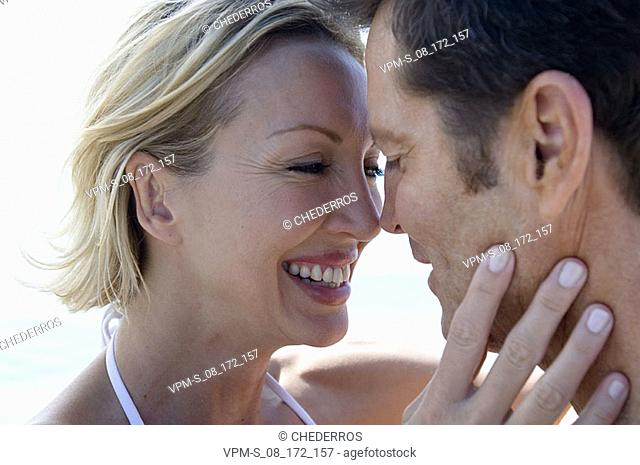 Close-up of a mid adult couple nuzzling
