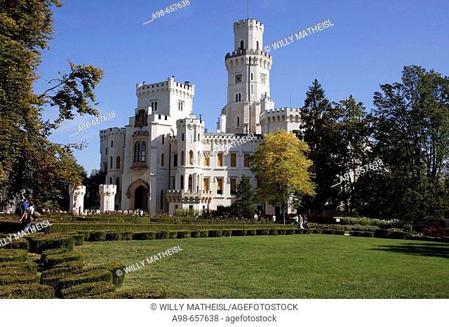 Czech Republic. South Bohemia. Hluboka Castle and garden