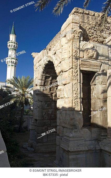 Triumph arch of Marc Aurel, Marcus Aurelius, in Tripoli, Libya