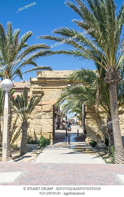 Entrance to the old town on the island of Tabarca in Spain