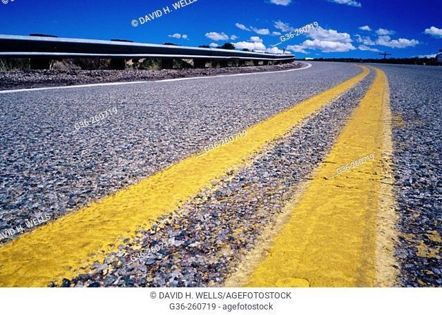 Road stripe in New Mexico. USA