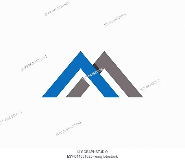 M Letter Business corporate abstract unity vector logo