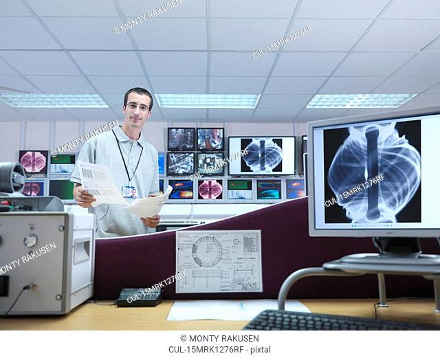 Fusion Reactor Scientist With Screens