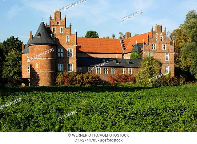 Germany, North Rhine-Westphalia, NRW, Westphalia, Ruhr area, Herten, moated castle, Late Gothic, LWL, Landschaftsverband Westfalen-Lippe