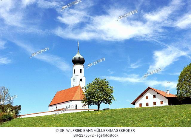St Michael daughter church, Endlkirchen, Erlbach, Upper Bavaria, Bavaria, Germany, Europe