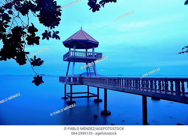 Security tower of Kep Beach, Cambodia