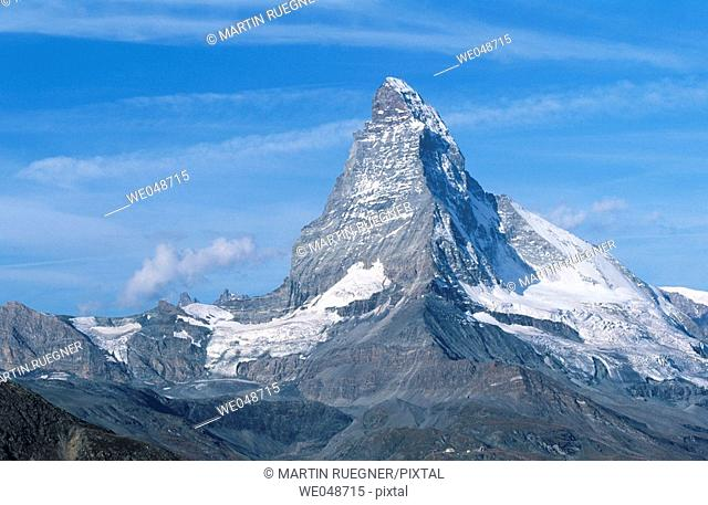 The Matterhorn.  Zermatt. Valais. Switzerland. September