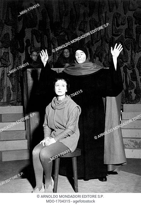Lilla Brignone with Enrico Maria Salerno in The Lark. Italian actress Lilla Brignone, born Adelaide Brignone, is with Italian actor Enrico Maria Salerno on the...