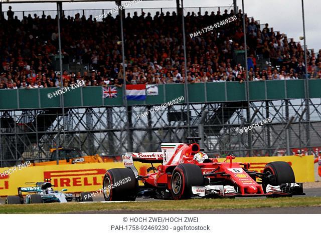 Motorsports: FIA Formula One World Championship 2017, Grand Prix of Great Britain, #5 Sebastian Vettel (GER, Scuderia Ferrari), 16.07.2017