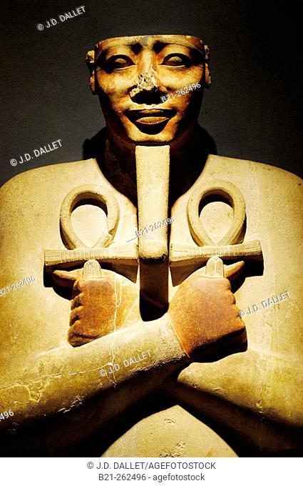 Sesostris I (aka Senusret I) statue at museum. Egypt