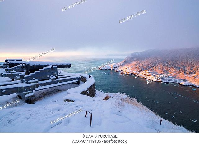 Sunrise at Queen's Battery, SIgnal Hill, St. John's, Newfoundland and Labrador