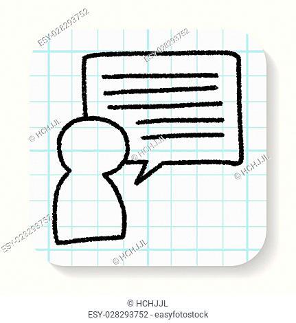 doodle people speech