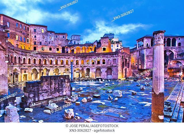 Trajan's Market, Mercati di Traiano, Via dei Fori Imperiali, Rome, Lazio, Italy, Europe