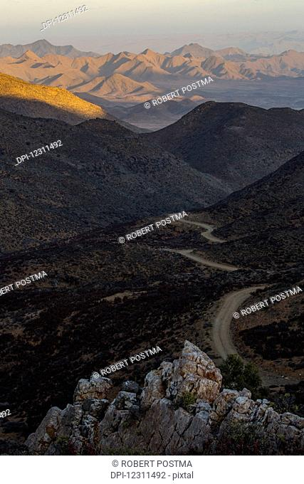 A view of the road leading into Richtersveld National Park; South Africa