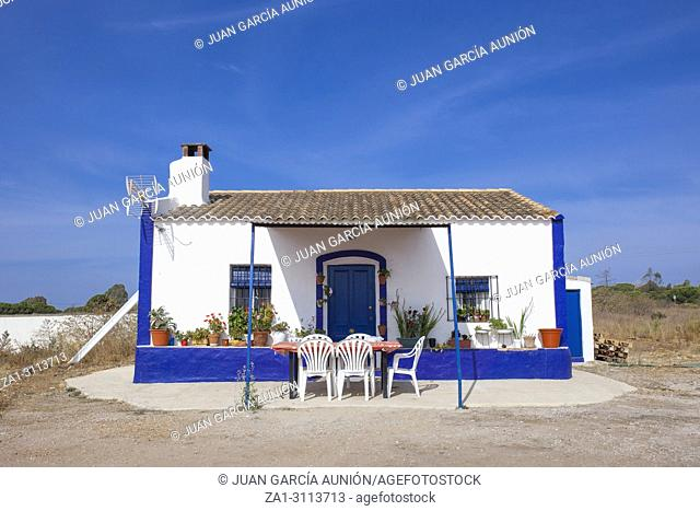 Small south portugal country house. Typical house in the South of Portugal. Alentejo