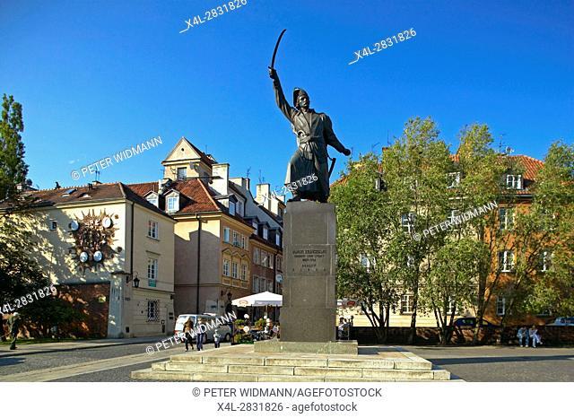 "Jan KiliŠ""ski monument in Warsaw, Poland, Europe, 2. July 2004"