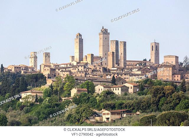 View of the town of San Gimignano. Siena district, Tuscany, Italy