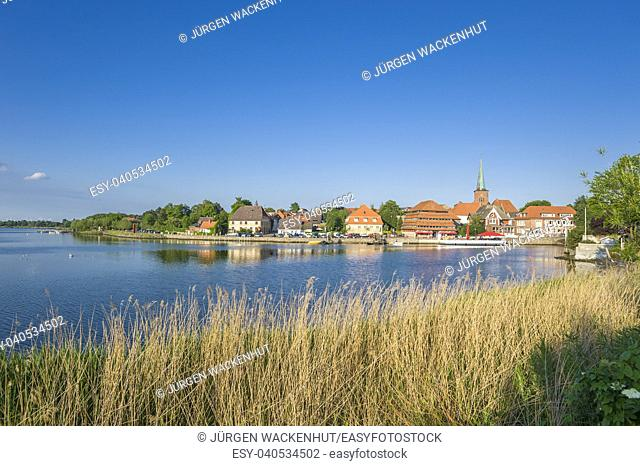 Townscape at the Neustaedter inland water, Neustadt in Holstein, Baltic Sea, Schleswig-Holstein, Germany, Europe