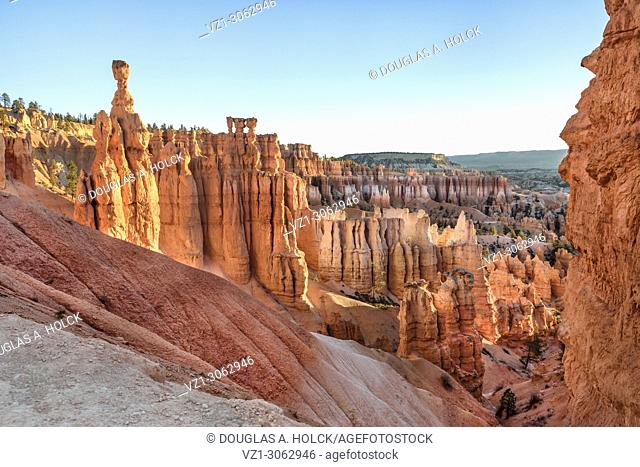 Thor's Hammer Overlooking Hoodoo in Bryce Canyon National Park