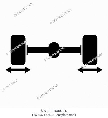 Fix car wheels Computer wheel balancer icon black color vector illustration flat style simple image