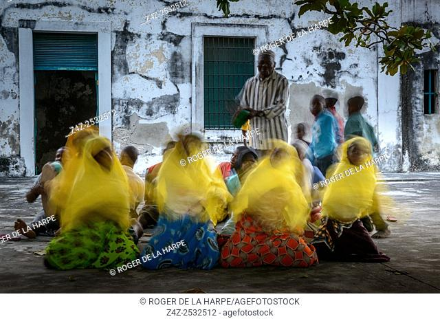 Traditional singing and dancing in the old fort. Ibo Island. Mozambique
