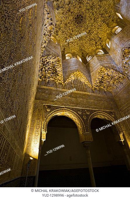 Sala de los Abencerrajes in Alhambra Granada, Spain