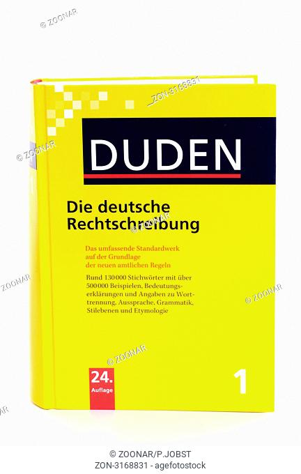 Der Duden ist das wichtigste Grundlagenwerk der deutschen Sprache / The Duden is the most important book of German orthography
