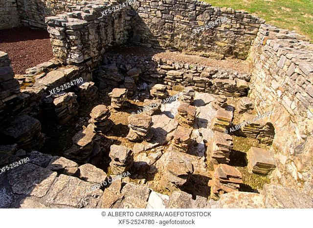Roman Village of Veranes, Villa Romana de Veranes, Arqueological Site, Veranes, Cenero, Gijón, Asturias, Spain, Europe
