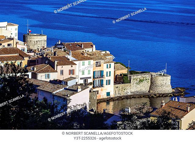 Europe, France, Var, Saint-Tropez. Portalet tower and the old tower, XV century