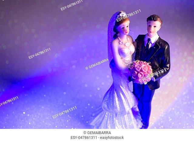 Newlyweds embraced bride and groom