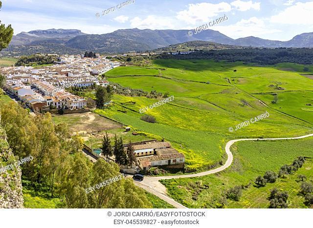 Panoramic view of the Serrania de Ronda, Andalucia, Spain